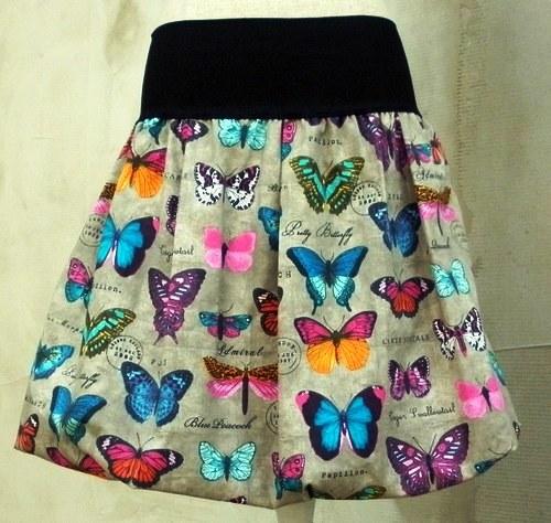 balonová sukně motýli