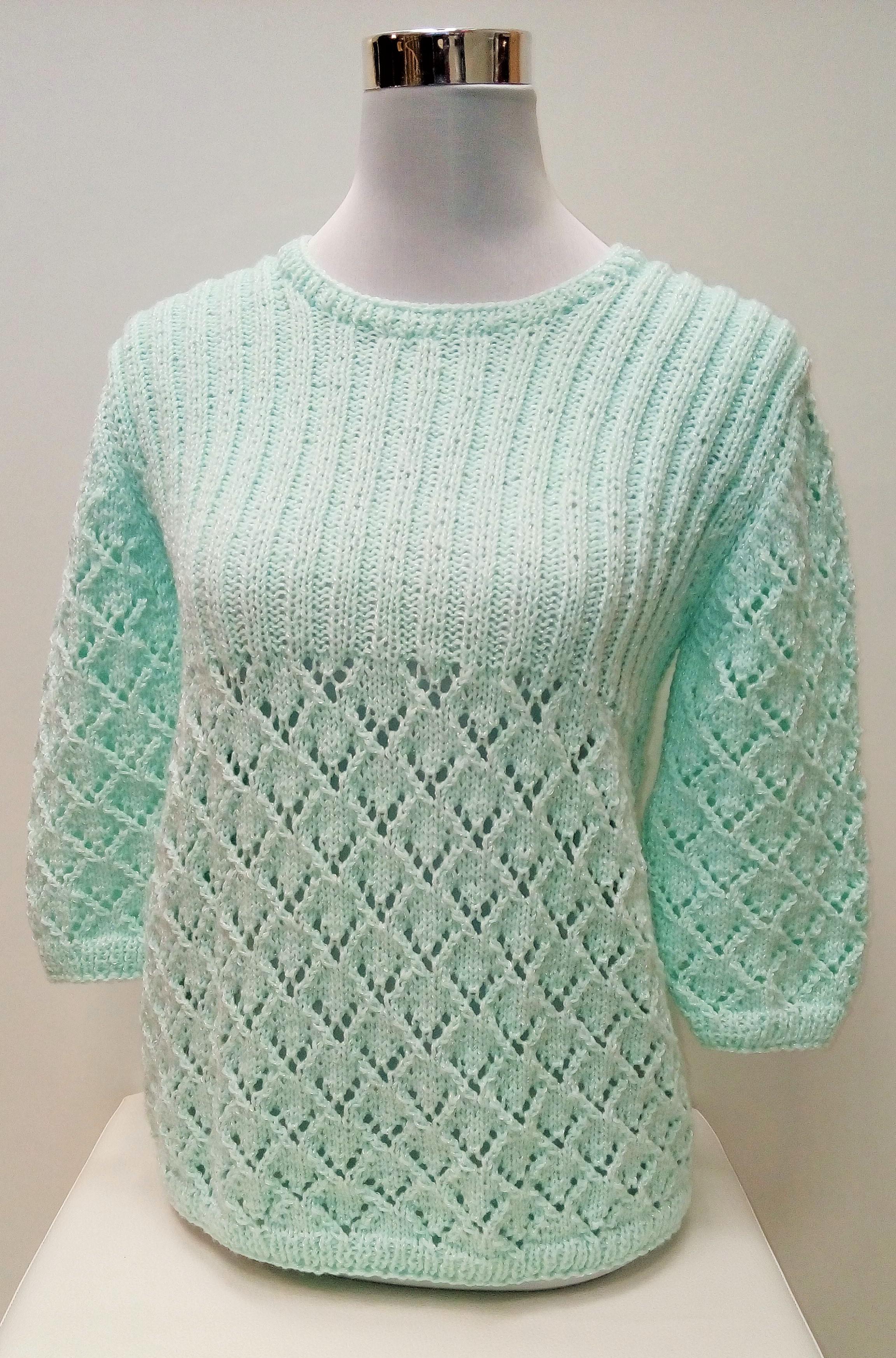d01b0db1fa9 pletený svetr mátový IMG 20151121 164416 ...